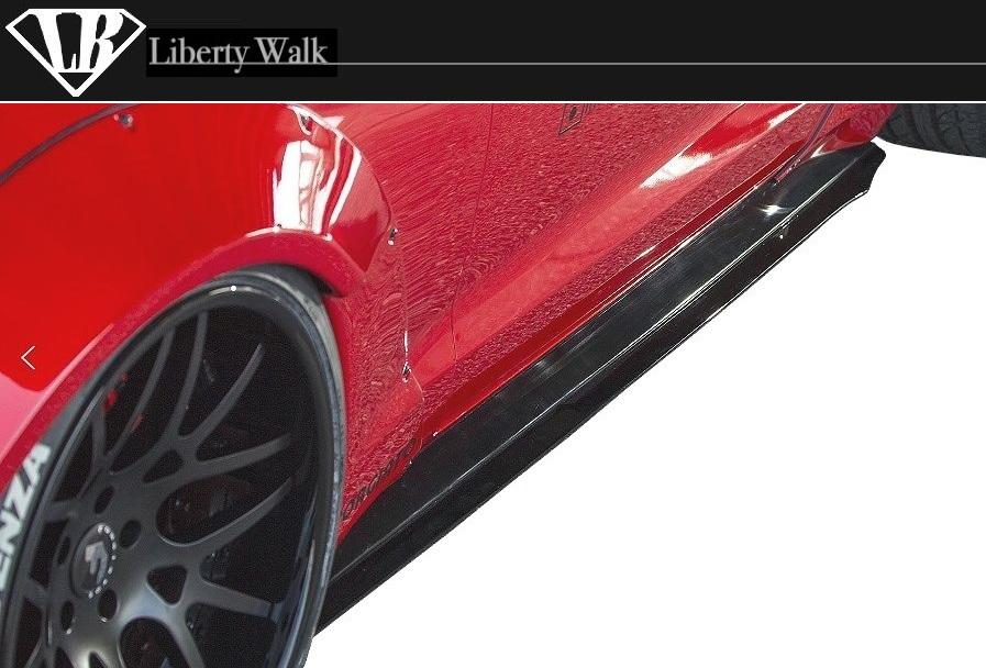 フォード マスタング LB サイド ディフューザー Liberty Walk エアロ / FORD MUSTANG side diffuser