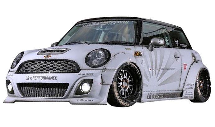 【M's】MINI R56 LB☆STANCE エアロ サイド スカート // S スポイラー / BMW ミニ クーパー LB☆PERFORMANCE WORKS Cooper Body kit FRP リバティウォーク