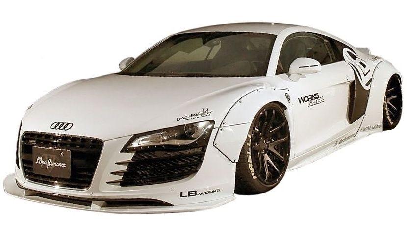 【M's】アウディ R8 V8 LB WORKS フル エアロ 5点 ボディキット // フロント & サイド & リア ディフューザー/ リヤ ウイング / ワイド フェンダー / LB パフォーマンス / AUDI R8 V8 Complete Body kit FRP リバティウォーク