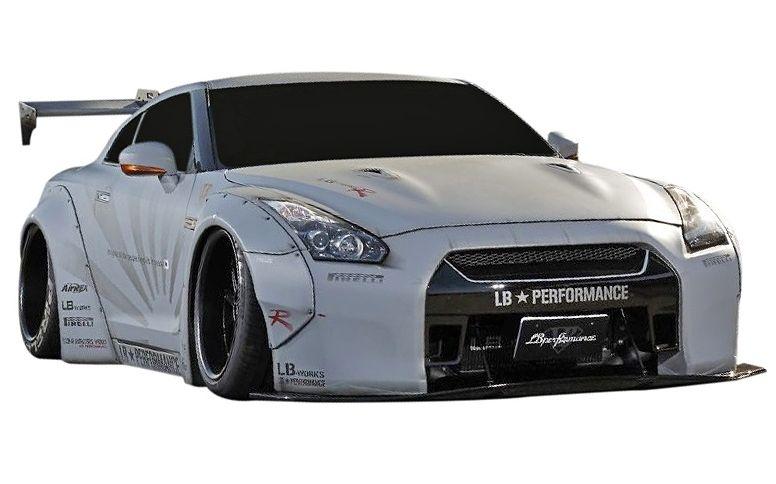 【M's】日産 R35 GT-R LB☆WORKS Ver.1 フルエアロ 4点 ワイドボディキット // フロントバンパー/リアディフューザー/リアウイングVer.1/ワイドフェンダー/LB-PERFORMANCE Complete Body kit リバティウォーク NISSAN