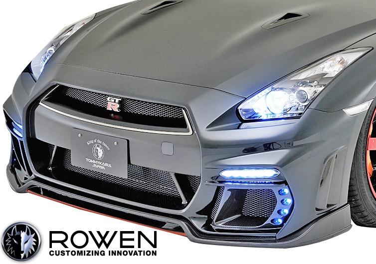 【M's】日産 R35 GT-R 中期モデル (2010.12-2016.06) ROWEN フロントバンパー//FRP製 ロェン ロウェン ローウェン エアロ エアロパーツ NISSAN ニッサン GTR G-TR 未塗装 1N003A00