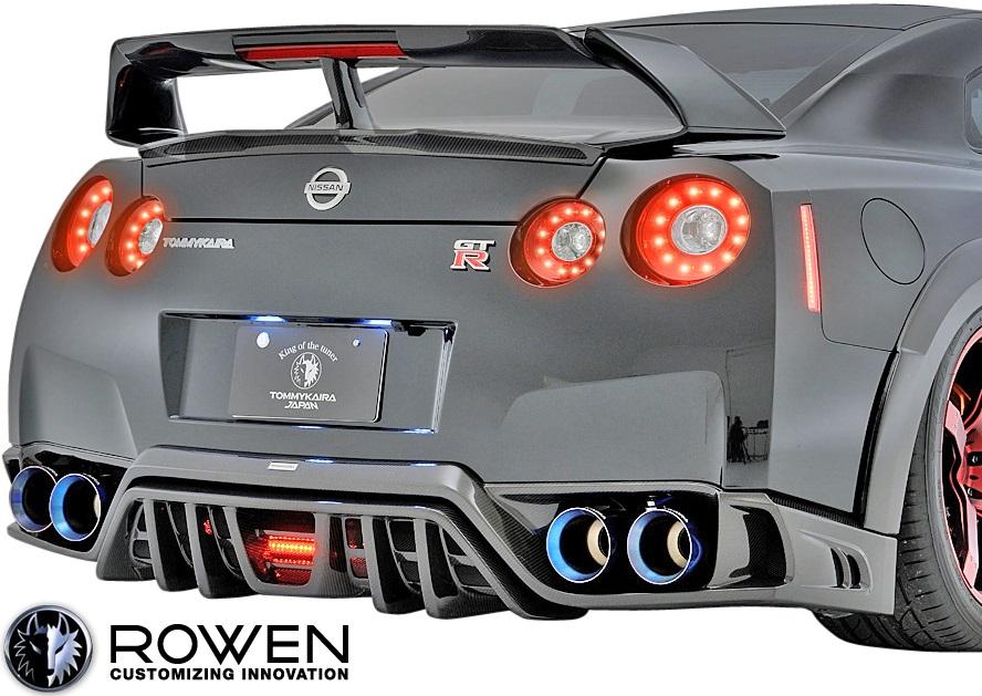 【M's】日産 R35 GT-R 中期モデル (2010.12-2016.06) ROWEN トランクスポイラー Ver.2 //FRP製 ロェン ロウェン ローウェン エアロ エアロパーツ V2 カスタム NISSAN ニッサン GTR G-TR 未塗装 1N003T00