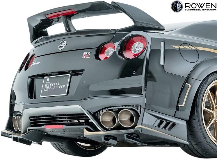 【M's】日産 R35 GT-R 後期 (2016.07-) ROWEN リアウイング Ver.2//FRP+Wet Carbon カーボン 狼炎 ロェン ロウェン ローウェン ローエン エアロ リヤウイング V2 トミーカイラ NISSAN ニッサン GTR G-TR 1N003W10