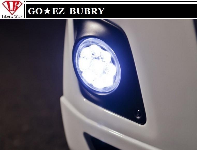 【M's】エブリィ DA64 DA17 BUBRY フロントバンパー専用 LED フォグ ランプ / GO EZ エアロ/Liberty Walk // スズキ SUZUKI EVRY エブリイ エブリー