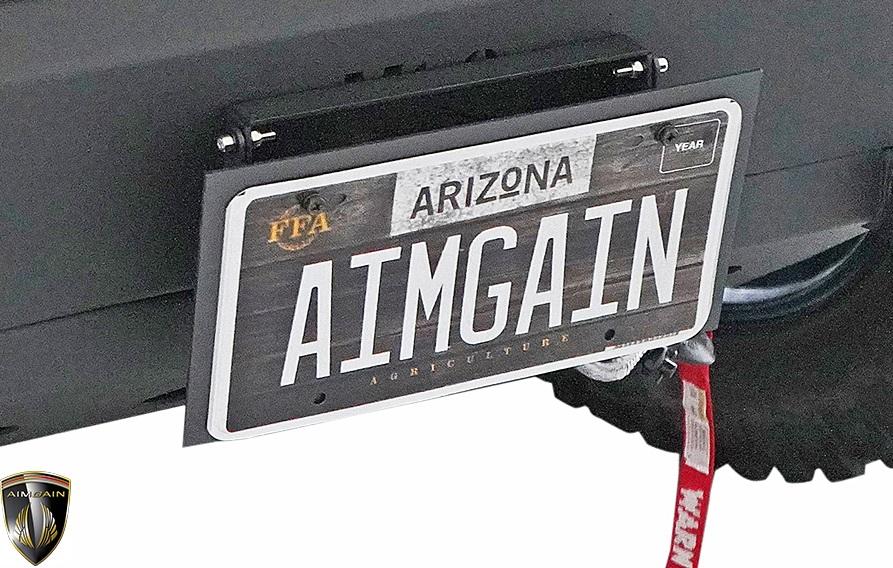 【M's】スズキ ジムニーシエラ JB74W/JB64W (2018y-) AIMGAIN MT.8 ナンバープレートブラケット//エイムゲイン エアロ SUZUKI JIMNY SIERRA 74ジムニー 64ジムニー シエラ 74 64 カスタム