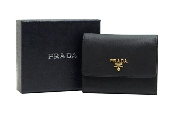 プラダ(PRADA)サフィアーノ 二つ折り財布1MH840【中古】程度S【smtb-m】