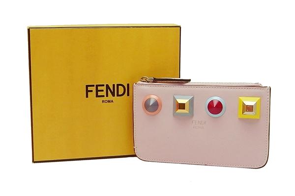 フェンディ(FENDI)マルチスタッズキーフック付き コインケース8AP151【中古】程度S【smtb-m】