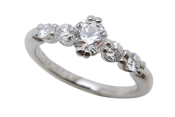 ダイヤモンド リングPt1000 0.308ct 0.22 3.7g【中古】程度S【smtb-m】