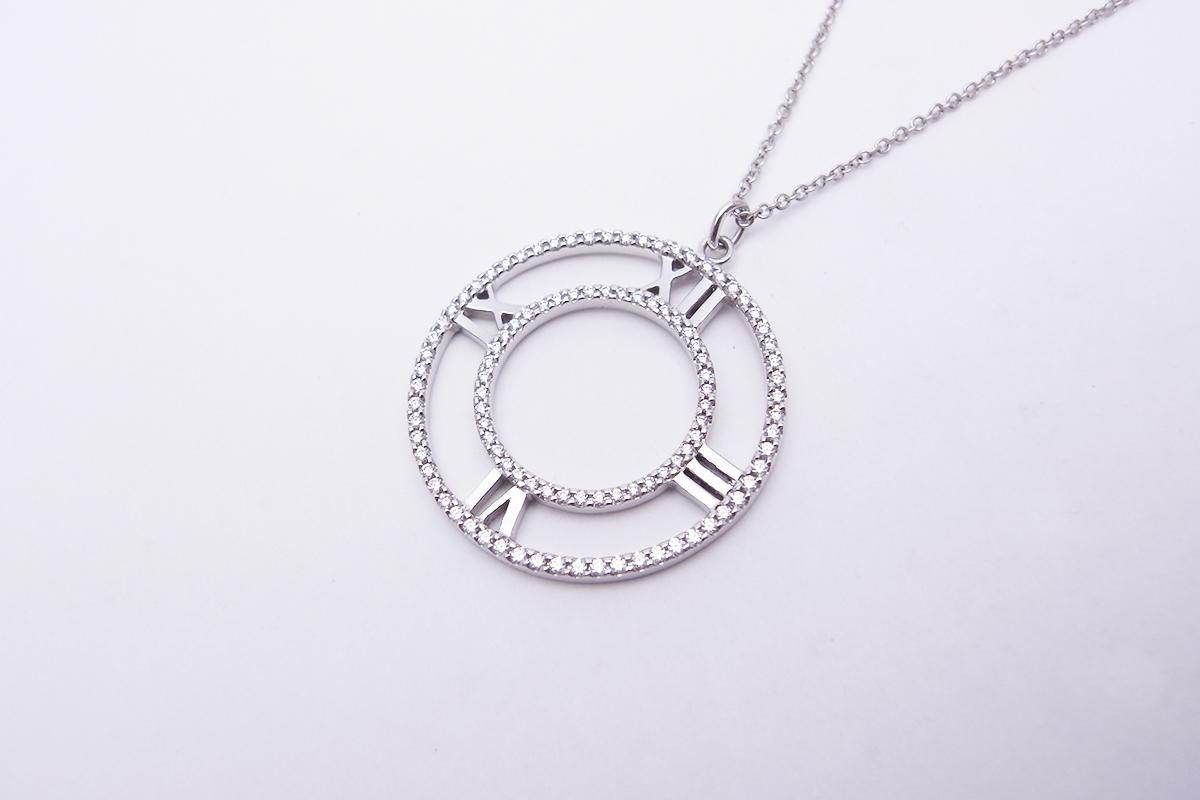 ティファニー(Tiffany&Co.)アトラスオープンネックレス750WG 5.2g【中古】程度S【smtb-m】