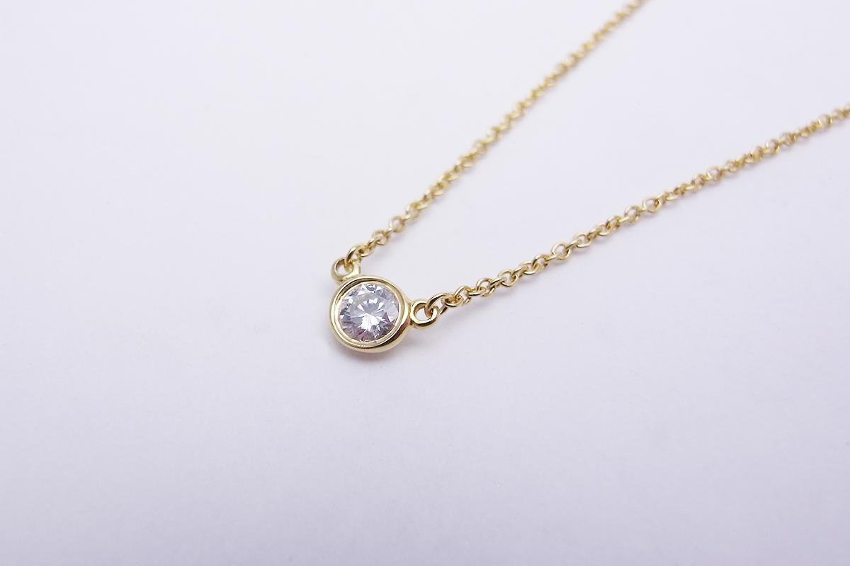 ティファニー(Tiffany&Co.)バイザヤードネックレス750YG 1.8g【中古】程度S【smtb-m】