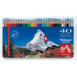 【送料無料】 カランダッシュ CARANd'ACHE 水溶性色鉛筆プリズマロ40色セット(缶入)