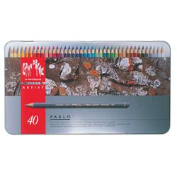 【送料無料】 カランダッシュ CARANd'ACHE 油性色鉛筆 パブロ色鉛筆40色セット(缶入り)