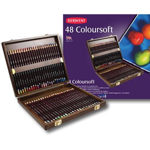 【送料無料】 DERWENT ダーウェント カラーソフト 48色ウッドボックスセット (1529-848) 油性色鉛筆