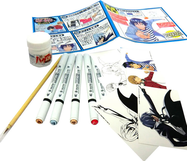 The included color illustrations for practice drawings of popular anime and manga trade 3 varieties