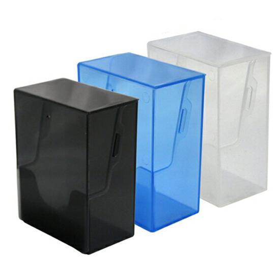 トレーディングカード(TCG)の保管や持ち運びに便利なクリアタイプのハードケース。カードが取り出しやすく、デッキの構築にも便利です。 コアデ トレカデッキケース スリーブなしで120枚・スリーブつきで1デッキ分収納可能 (スモークブラック、クリア、スモークブルー)TCG/トレーディングカードケース/ハードケース/透明ケース