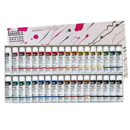 【送料無料】 【リキテックスアクリル絵の具】リキテックスカラーセットレギュラータイプ 伝統色36色Aセット 6号チューブ