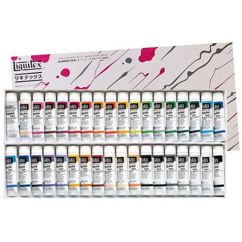 【送料無料】 【リキテックスアクリル絵の具】リキテックスカラーセットレギュラータイプ 伝統色36色Bセット 6号チューブ
