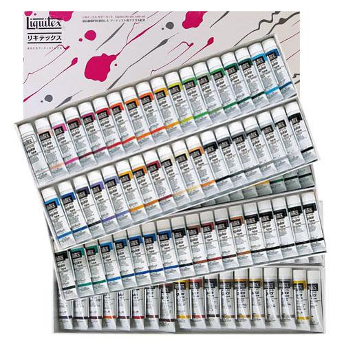【送料無料】 【リキテックスアクリル絵の具】リキテックスカラーセットレギュラータイプ 107色全色セット(108本) 6号チューブ
