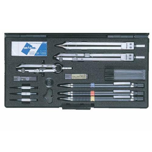 【ドラパス独式製図器セット】独式9本組 20品 製図器セット