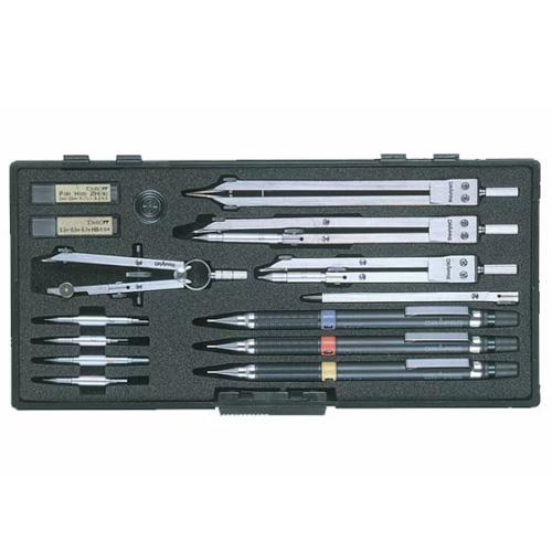 【ドラパス独式製図器セット】独式12本組 19品 製図器セット
