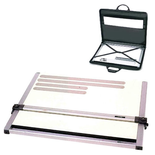 【送料無料】 「ドラパスボードDXM-601 A2平行定規 製図板」 + 「ポートフォリオ A2サイズ」 【平行定規】【A2】
