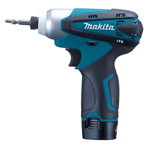 マキタ 充電式インパクトドライバ 10.8V 1.3Ah 青 バッテリー2個付き TD090DWX