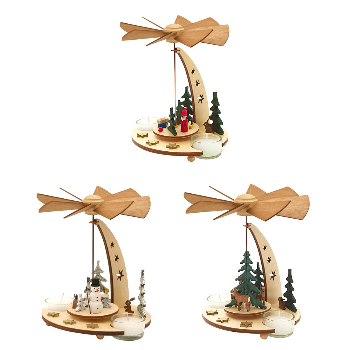 クーネルト クリスマスピラミッド セット ( サンタクロース スノーマン 森の動物 ) 【 クーネルト kuhnert クリスマス 飾り付け kuhnert 】