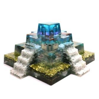ボヘミアンオルゴナイト マヤピラミッド 大型オルゴナイト17cmx17cm H49a 日本国内正規品 ( ボヘミアンオルゴナイト オルゴナイトオブジェ )