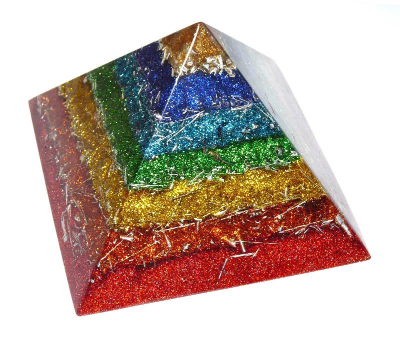 ボヘミアンオルゴナイト ラストラ チャクラピラミッド 180mm×130mm L01c 日本国内正規品 ( ボヘミアンオルゴナイト オルゴナイトオブジェ )