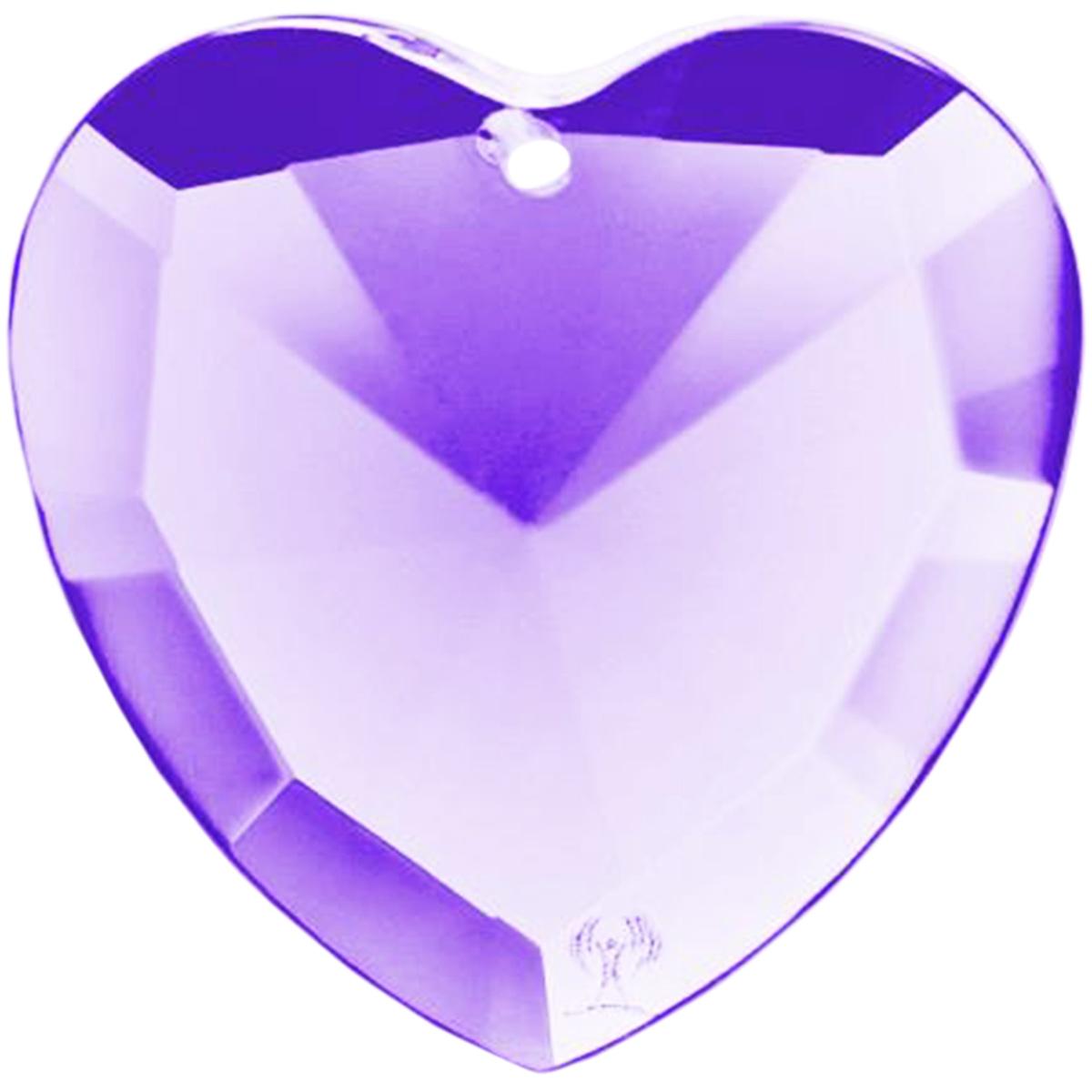 リヒトウェーゼン エロヒムの紫の光 ハート型クリスタル クリップ無し ( LichtWesen リヒトウェーゼン リヒトヴェーゼン エロヒムの光 ) LW-EH07 日本国内正規品 【 あす楽 送料無料 】