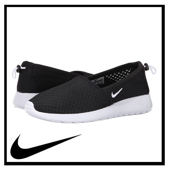 nike roshe one slip on black