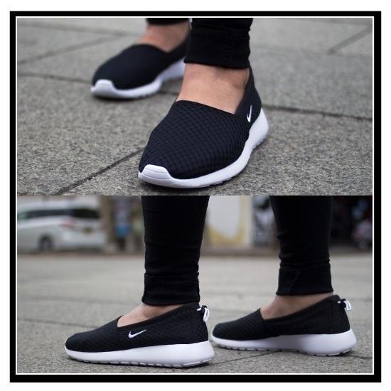 耐克 (Nike) ROSHE 一滑 (玫瑰一滑) 女性妇女运动鞋黑/白黑 / 白 (579826 010) 国内库存和提示可以发送 (无休止的旅行)