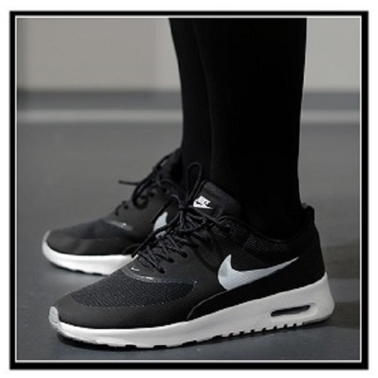 women's nike air max thea black and white