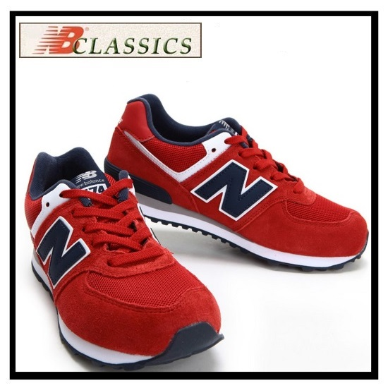 New Unisex New Balance Red Navy Shoes