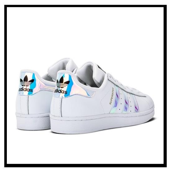 阿迪达斯 (阿迪达斯) 原件巨星 J (超级明星) 妇女鞋运动鞋 FTWWHT/FTWWHT/METSIL (白/金属银) (AQ6278)