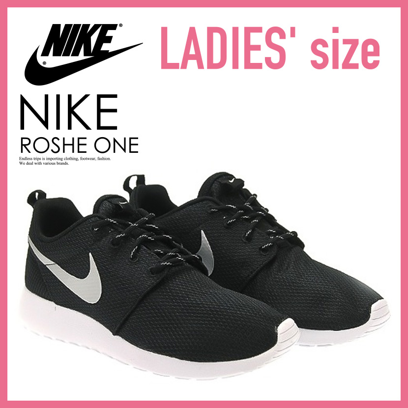nike roshe run wmns black&white market clothing