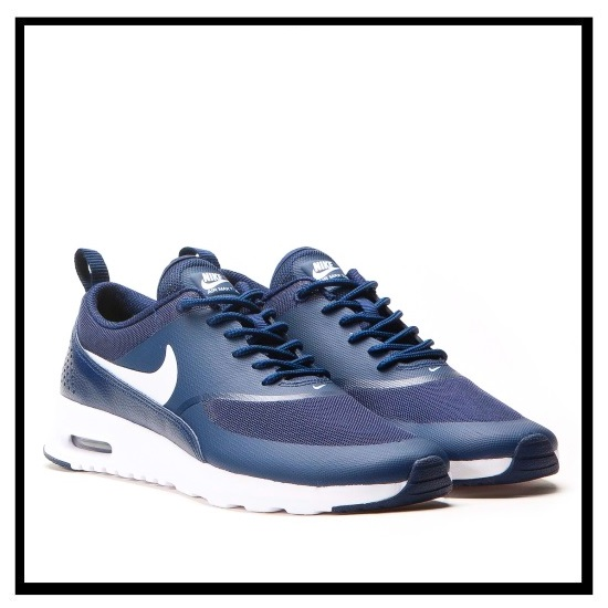 Rakuten shopping marathon! NIKE (Nike) WOMENS NIKE AIR MAX THEA (Air Max THEA) Lady's high technology sneakers sneakers (OBSIDIANWHITE) navy white