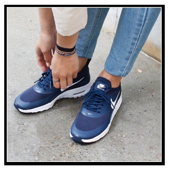 NIKE (Nike) WOMENS NIKE AIR MAX THEA (Air Max THEA) Lady s high technology  sneakers sneakers (OBSIDIAN WHITE) navy   white (599409 409) ENDLESS TRIP  pickup b4f460e2bb