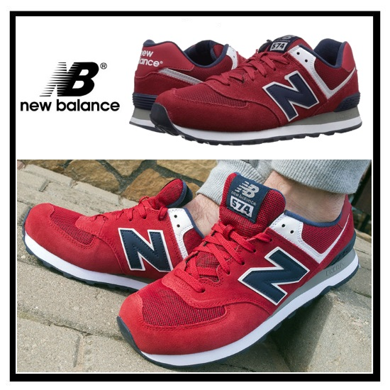 new balance 574 red and chrome