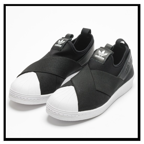 san francisco 2be45 3b797 adidas ORIGINALS (Adidas) SUPERSTAR SLIP ON W (superstar slip-ons) Ladys shoes  sneakers CBLACKCBLACKFTWWHT (black  white) S81337 ENDLESS TRIP ...