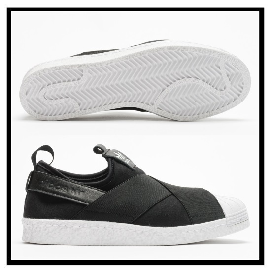 adidas ORIGINALS adidas SUPERSTAR SLIP ON W superstar slip on women s Shoes Sneakers CBLACK CBLACK FTWWHT black white S81337