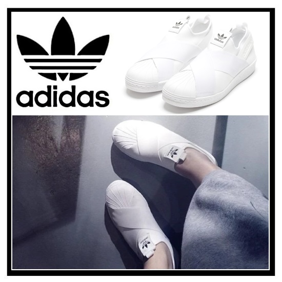 newest 51e05 49e18 adidas ORIGINALS (Adidas) SUPERSTAR SLIP ON W (superstar slip-ons) Lady's  shoes sneakers FTWWHT/FTWWHT/CBLACK (white) S81338