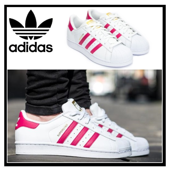 huge selection of 9cbcb f6ad7 adidas superstar originals white and pink