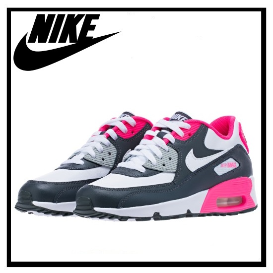 nike air max 90 leather gs rosa