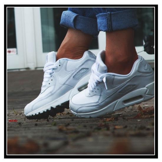 all white nike air max 90