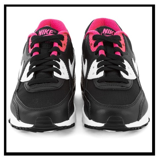 air max 90 black white and pink