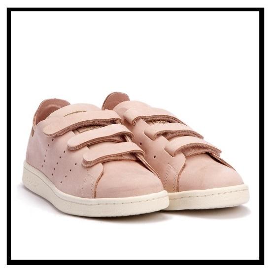 adidas(阿迪达斯)STAN SMITH OP CF W(Stan Smith)铃黑运动鞋VAPPNK/VAPPNK/OWHITE(粉红/灰白)S32271(永无休止的旅行)