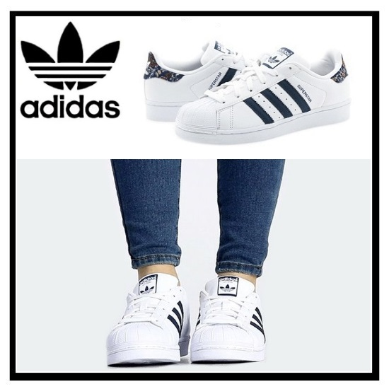 adidas superstar womens white and navy