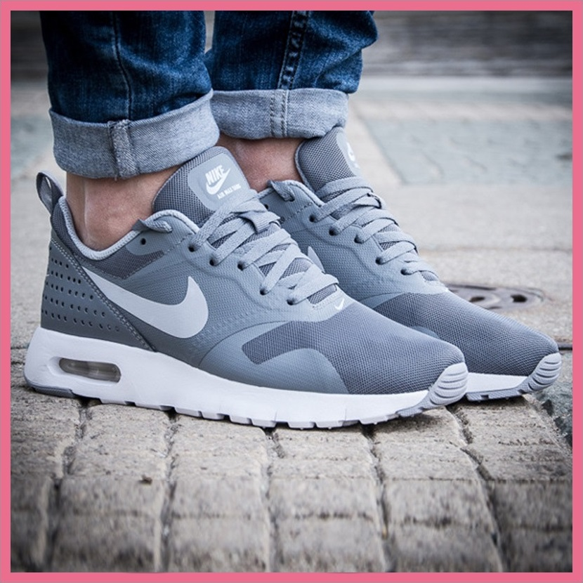 NIKE (Nike) AIR MAX TAVAS (GS) (air Mac Starbucks's) women sneakers COOL  GREY/WOLF GREY-WHITE (gray / white) 814443 002 ENDLESS TRIP (endless trip)