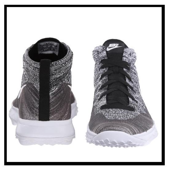 Nike Flyknit Mercato Chukka In Bianco E Nero fTmfj